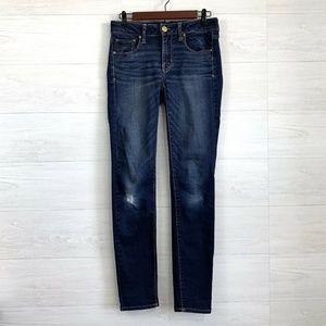 AEO Long Skinny Leg Dark Distress Jeans